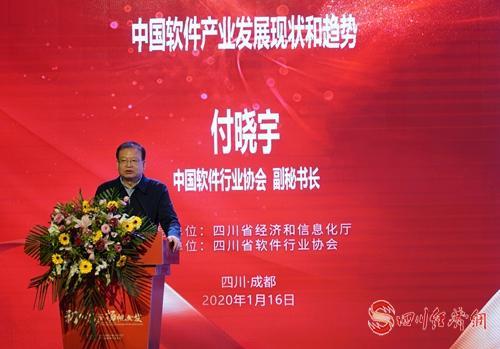 中国软件行业协会副秘书长付晓宇作主题报告.jpg