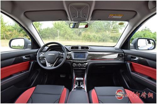 03(苏4网0425 际恒供稿)七万级SUV哪款最适合入手?哈弗H2用真实力征服你配图    图三:哈弗H2内饰.jpg