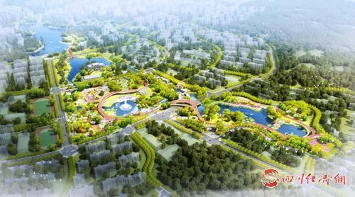 16(網)西充:城南建設生態公園完善生態宜居的城市環境配圖    城南中央公園示意圖.jpg