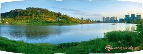 06(网)让绿色成为仪陇发展底色配图    图为金松湖生态公园。.jpg