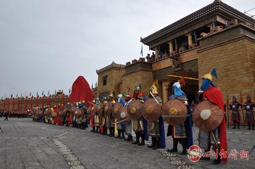 29(网)1让传承千年的格萨尔文化活起来配图    配图5:开城仪式演出.jpg