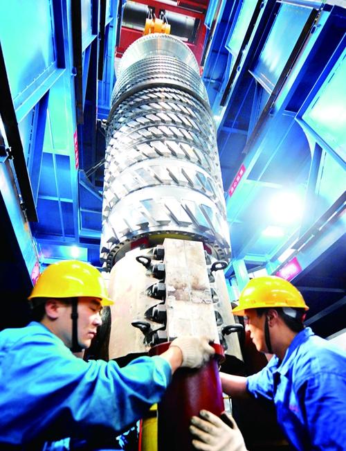 东方汽轮机有限公司生产的核电转子实现国产化.jpg