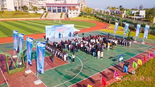 32(网)眉山市首届群众篮球赛岷东赛区开幕配图   开幕式现场  施云柯摄.jpg