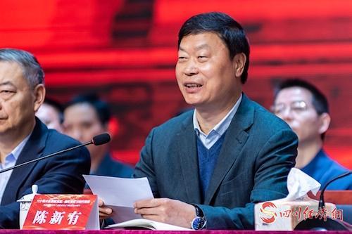 24、省经济和信息化厅党组书记、厅长陈新有出席会议并讲话(余晋摄).jpg