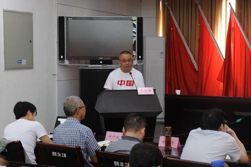 """39(39刘 网 0923汤斌)资阳市场监管局举行""""不忘初心、配图    马志军作报告.jpg"""