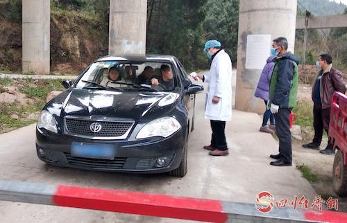 卫子镇疫情监测队在冯家岭村开展工作.jpg
